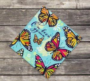 "Мини-открытка ""Бабочки"", 7*7 см"