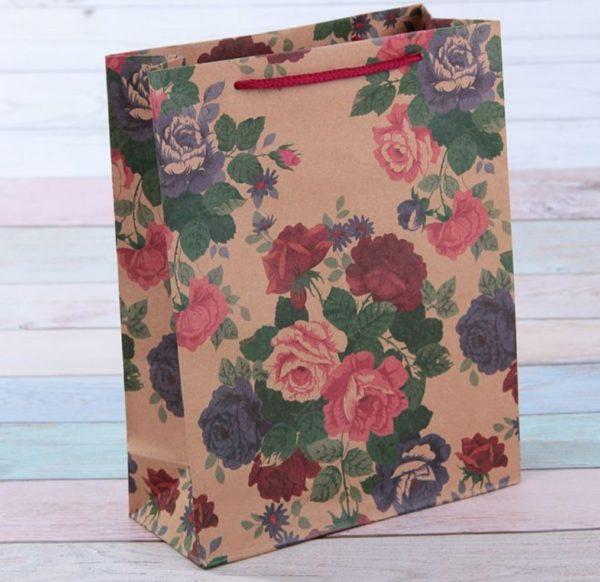 """Крафт-пакет """"Шипы и розы"""" 12*15,5 см"""