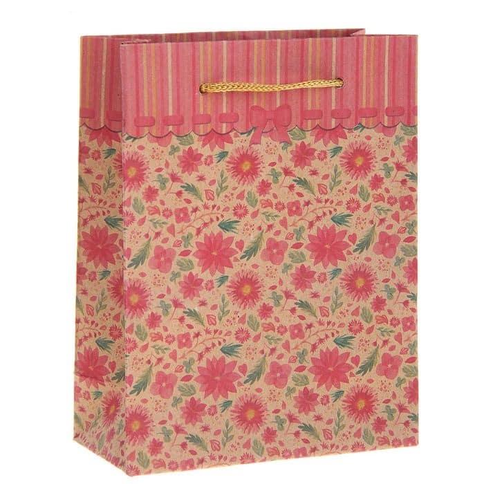 """Крафт-пакет """"Цветочная поляна"""" (размер на выбор)"""